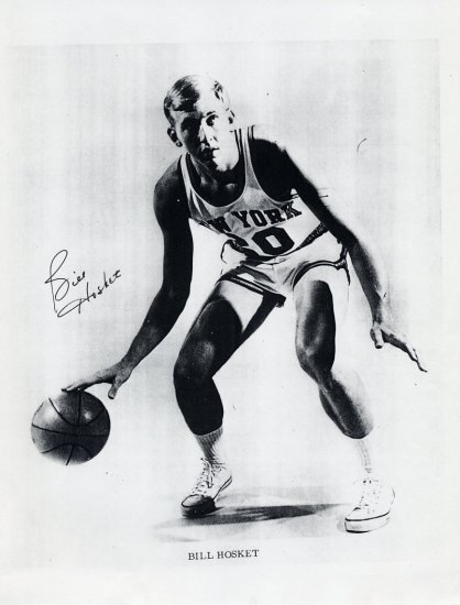 1968 Mexico City Basketball Gold BILL HOSKET Hand Signed Print 8x11