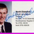 1984 Los Angeles Athletics Javelin Bronze KENTH ELDEBRINK Autographed Photo Card
