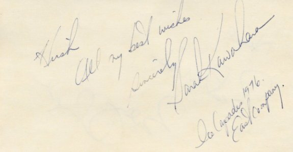 Ice Capades Skating Stars SARAH KAWAHARA & BILLY CHAPEL Autographs 1976