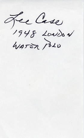1948 London Water Polo Olympian LEE CASE Autograph