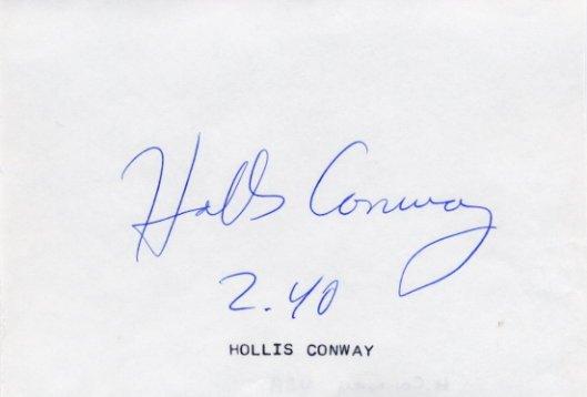 1988 Seoul & 1992 Barcelona High Jump Medalist HOLLIS CONWAY Autograph