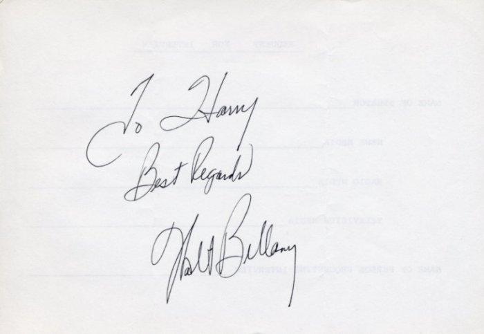 1960 Rome Basketball Gold & NBA WALTER BELLAMY Autograph 1980s