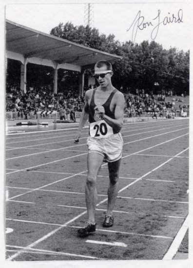 1960-76 Four Time Walking Olympian RON LAIRD Hand Signed Print