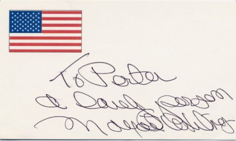 American Singer MARGARET WHITING Hand Signed Card 3x5