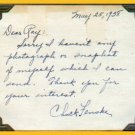 1940 Millrose Games Wanamaker Mile Champion CHUCK FENSKE Autograph Note Signed 1938
