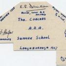 Legendary Br Track Coach GEOFF DYSON & SANDY DUNCAN Autographs 1947 (+2)