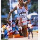1984 Los Angeles Triple Jump Olympian PETER BOUSCHEN Hand Signed Photo