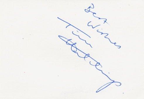 1986 European Championships 5000m Bronze TIM HUTCHINGS Autograph