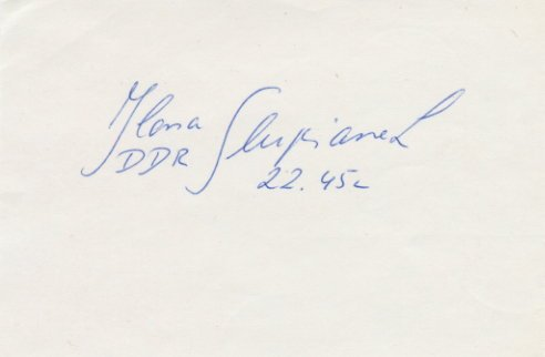 1980 Moscow Athletics Shot Put Gold & WR ILONA SLUPIANEK Autograph 1980