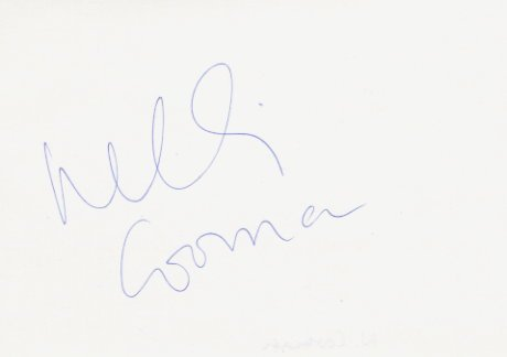 1987-89 World Indoor 60m Champion NELLI COOMAN Autograph