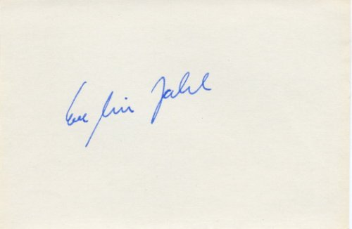 1976 Montreal & 1980 Moscow Athletics Discus Throw Gold EVELIN JAHL Autograph 1980
