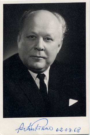 Popular Estonian Baritone ARTUR RINNE Autographed Photo 1968