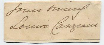 British Painter LOUISA STARR CANZIANI Autograph