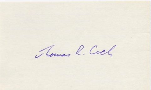1989 Nobel Chemistry THOMAS R. CECH Autographed Card