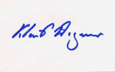 1952 Helsinki & 1956 Stockholm Equestrian Silver KLAUS WAGNER Autograph