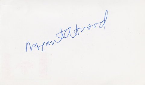 Booker Prize Canadian Writer MARGARET ATWOOD Autographed Card