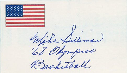 1968 Mexico City Basketball Gold MIKE SILLIMAN Autographed Card