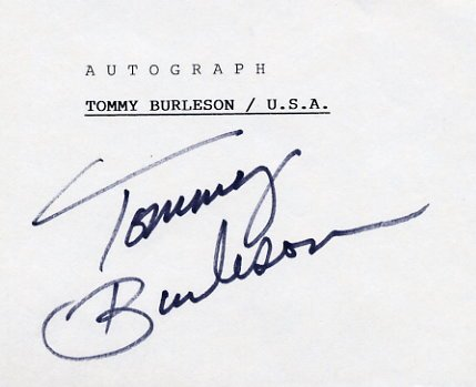 1972 Munich Basketball Silver TOMMY BURLESON Autograph #2