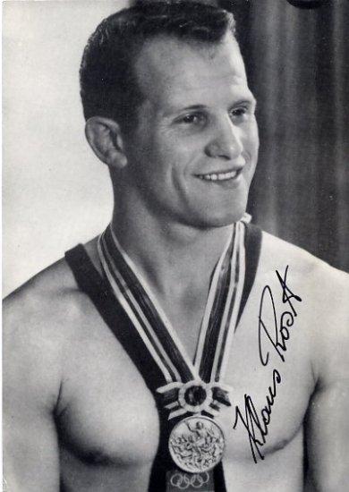 1964 Tokyo Wrestling Silver KLAUS ROST Hand Signed Photo