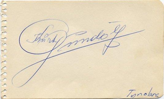 Tyrolean Gundolf Family Band Founder KURT GUNDOLF Autograph 1953