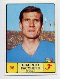 1968 Panini Campioni Dello Sport - #96 GIACINTO FACCHETTI