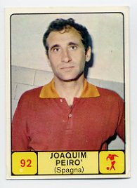 1968 Panini Campioni Dello Sport - #92 JOAQUIN PEIRO