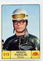 1968 Panini Campioni Dello Sport - #215 RENZO PASOLINI