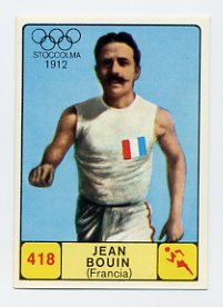 1968 Panini Campioni Dello Sport - #418 JEAN BOUIN - Distance Runner
