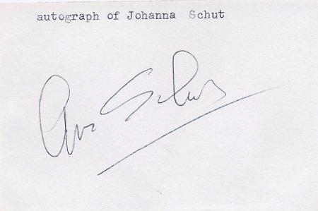 1968 Grenoble Speed Skating Gold JOHANNA SCHUT Autographed Sheet 1980