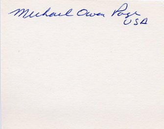1964 Tokyo & 1968 Mexico City Equestrian Medalist MICHAEL PAGE Autograph 1980s