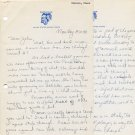Univ of Michigan & Wesleyan Cross Country Coach J. ELMER SWANSON Autograph Letter Signed 1940s