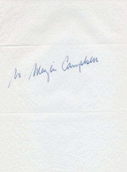 1964 Tokyo 200m Olympian MENZIES CAMPBELL Autograph 1960s