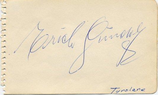 Tyrolean Gundolf Family Band Founder ERICH GUNDOLF Autograph 1953