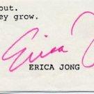 American Novelist & Poet ERICA JONG Typed Note Signed 1970s