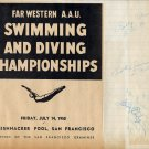 Legendary Multnomah Athletic Club Swim Coach JACK CODY Signed Scrapbook Page 1950s