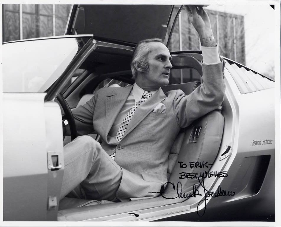 Legendary General Motors Designer CHUCK JORDAN Signed Photo 8x10