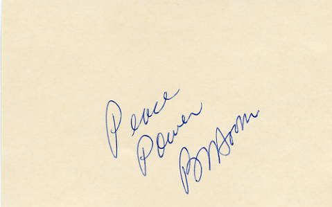 American Civil Rights Leader BENJAMIN L. HOOKS Autographed Card 1970s