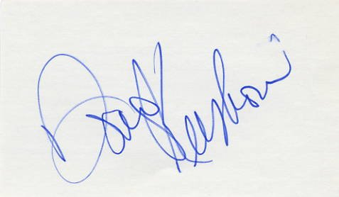 American Fiddle Player, Singer & Songwriter DOUG KERSHAW Hand Signed Card 3x5