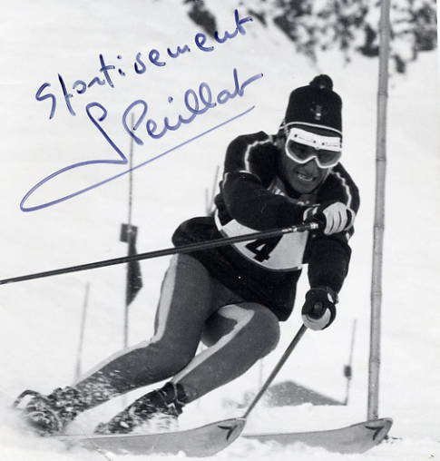 1960 Squaw Valley & 1968 Grenoble Alpine Skiing GUY PERILLAT Signed Photo