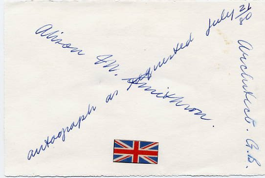 Influential British Architect ALISON M. SMITHSON Autographed Card 1980