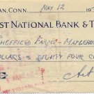 Graphic Artist & Designer ARTHUR SZYK Hand Signed Bank Check 1947