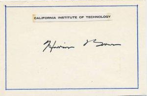 Manhattan Project Scientist HARRISON BROWN Autographed Card