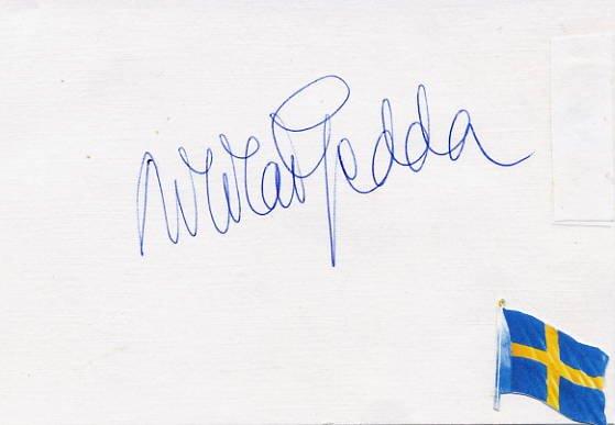 Great Swedish Tenor NICOLAI GEDDA Hand Signed Card 4x6