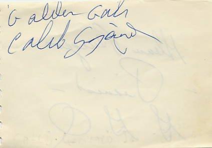 Gospel Golden Gate Quartet CALEB GINYARD & GLENN BURGESS Autographs