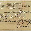 Mafia Wife of Meyer Lansky ANNE LANSKY Hand Signed Check 1938