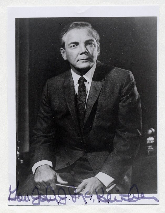 1960s Governor of Louisiana JOHN McKEITHEN Hand Signed Photo 4x5