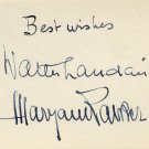 1932-70 Famous Piano Duo MARYAN RAWICZ & WALTER LANDAUER Vintage Autographs