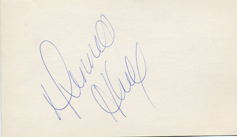 Ice Hockey NHL 1960-70s Chicago Black Hawks DENNIS HULL Autographed Card 1960s