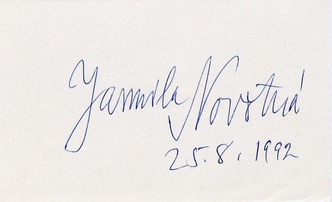 Great Czech Soprano JARMILA NOVOTNA Autographed Card 1992