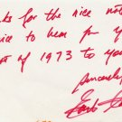 American Journalist Black Panthers EARL CALDWELL Autograph Note Signed 1970s